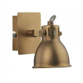 IDA0775 Idaho Single Switched Spotlight in Aged Brass
