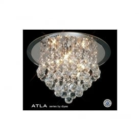 IL30008 Atla Transparent 4 Light Ceiling Light
