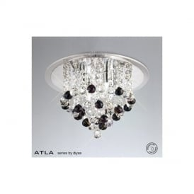 IL30008BL Atla Black 4 Light Ceiling Light