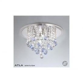 IL30008BLU Atla Blue 4 Light Ceiling Light