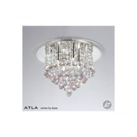 IL30008PI Atla Pink 4 Light Ceiling Light