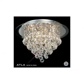 IL30009 Transparent 6 Light Ceiling Light