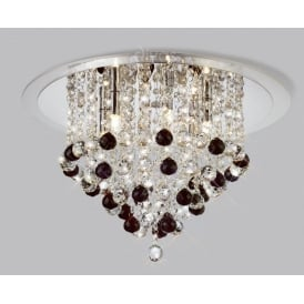 IL30009BL Black 6 Light Ceiling Light