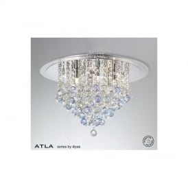 IL30009BLU Atla Blue 6 Light Ceiling Light