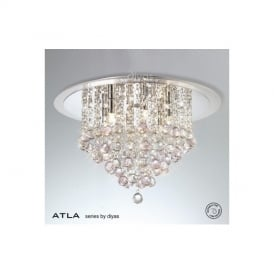 IL30009PI Atla Pink 6 Light Ceiling Light
