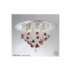 IL30009RD Atla Red 6 Light Ceiling Light