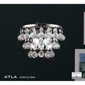 IL30014 Atla 2 Light Chrome Wall Bracket