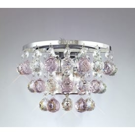 IL30014PI Atla 2 Light Wall Light with Pink Asfour Crystals
