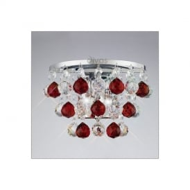 IL30014RD Atla 2 Light Wall Light with Red Asfour Crystals