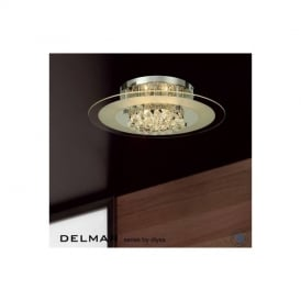 IL30022 Delmar Chrome 6 Light Ceiling Light