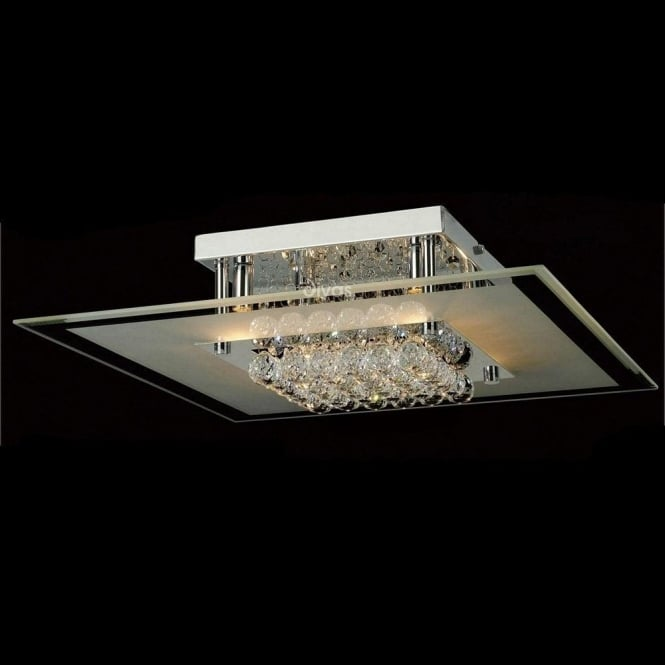 Diyas Lighting IL30024 Delmar 6 Light Polished Chrome Ceiling Light