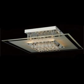 IL30024 Delmar 6 Light Polished Chrome Ceiling Light
