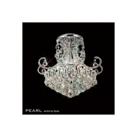 IL30026 Pearl Crystal 9Lt Semi-Flush Ceiling Lamp In Chrome