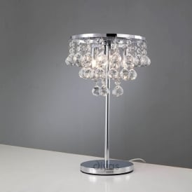 IL30028 Atla Polished Chrome And Crystal Table Lamp