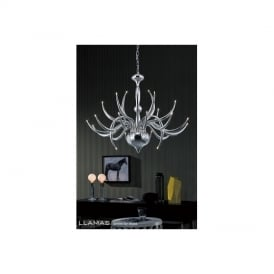IL30142 Llamas Chrome 24 Light Halogen Pendant