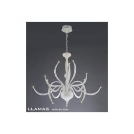 IL30151 Llamas 15 Light Adjustable Gloss White Pendant