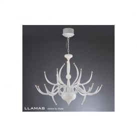 IL30152 Llamas 24 Light Adjustable Gloss White Pendant