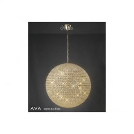 IL30750 Ava 12 Light French Gold & Crystal Ceiling Pendant