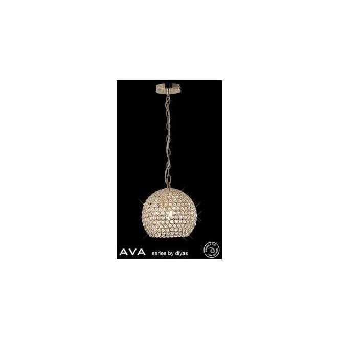 Diyas Lighting IL30751 Ava 4 Light French Gold Crystal Ceiling Pendant