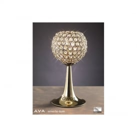 IL30755 Ava 2 Light French Gold Crystal Table Lamp