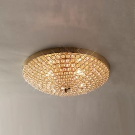 IL30756 Ava 4 Light French Gold Flush Ceiling Light