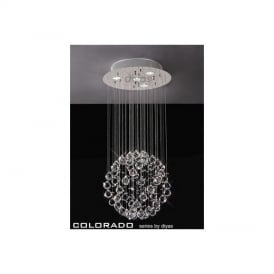 IL30780 Colorado 4 Light Crystal Ceiling Pendant