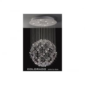 IL30781 Colorado 8 Light Crystal Ceiling Pendant
