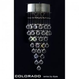 IL30786 Colorado 2 Light Crystal Wall Lamp