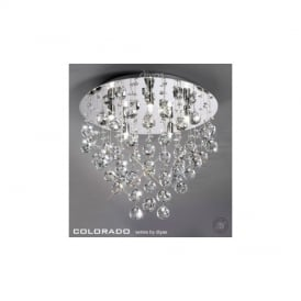 IL30787 Colorado 5 Light Round Flush Crystal Ceiling Light