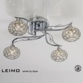 IL30954 Leimo 4 Light Flush Ceiling Light