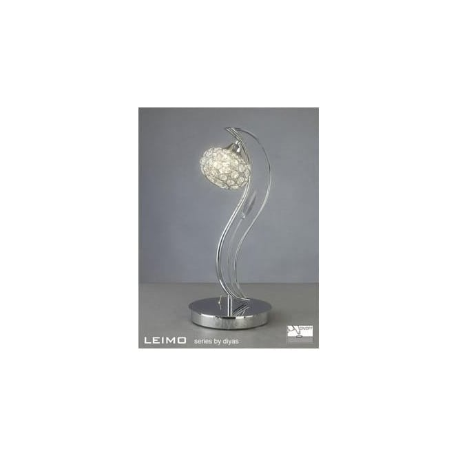 Diyas Lighting IL30959 Leimo 1 Light Polished Chrome Table Lamp