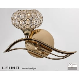 IL30961-L Leimo 1 Light Left Handed French Gold Wall Light
