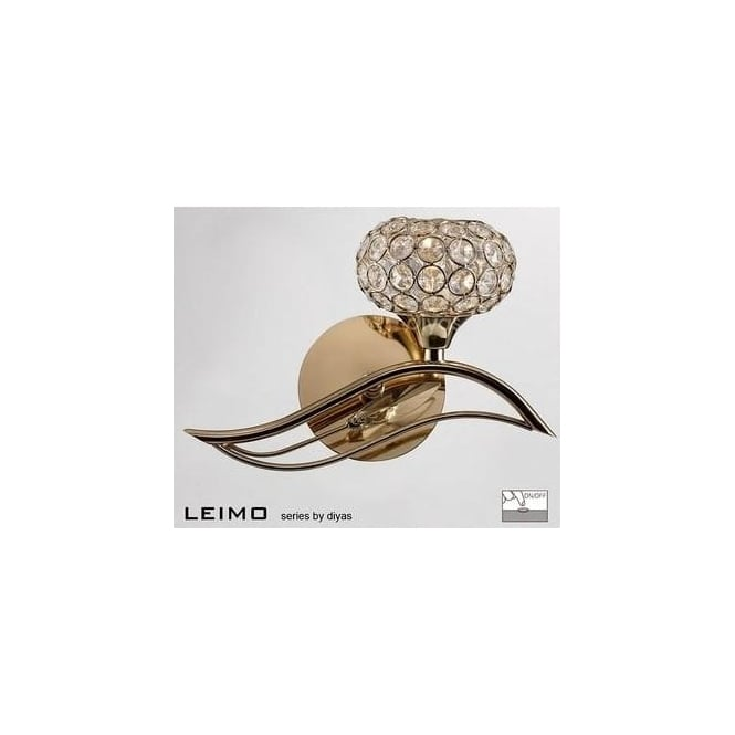 Diyas Lighting IL30961-R Leimo 1 Light French Gold Right Handed Wall Light