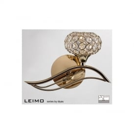 IL30961-R Leimo 1 Light French Gold Right Handed Wall Light