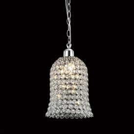 IL60001 Kudo Chrome And Crystal Non-Electric Pendant