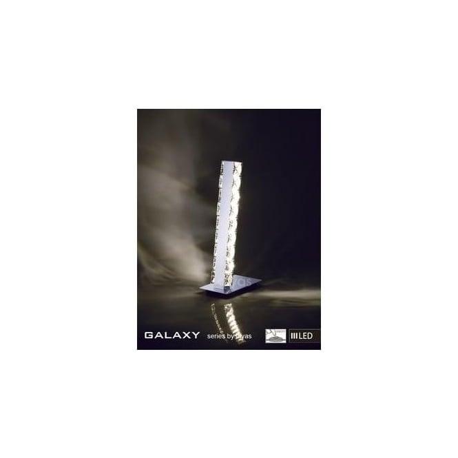 IL80040 9000030914 Diyas Lighting Il80040 Galaxy Led 6 Light Chrome Crystal Table