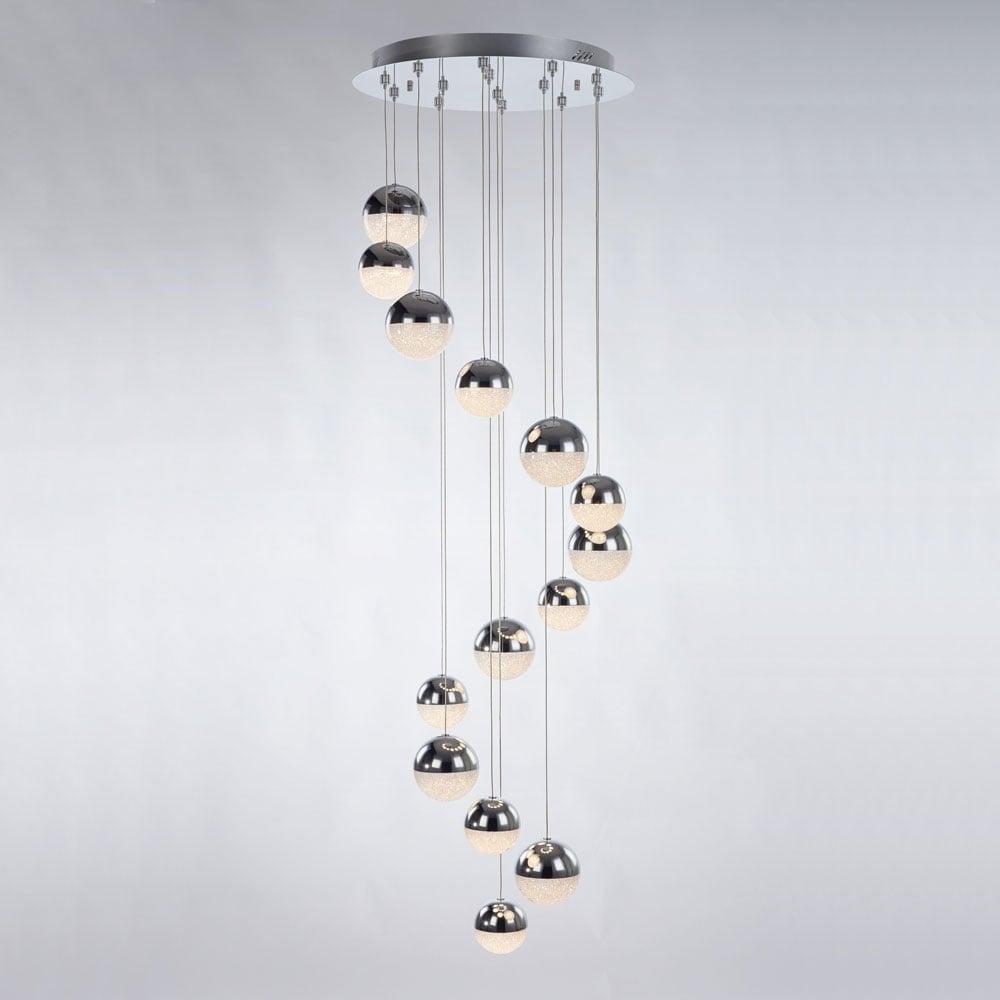 drop pendant lighting. Interesting Drop Eclipse Modern 14 Light Multi Drop Ceiling Pendant In Chrome Finish  MD1400305714A And Lighting E