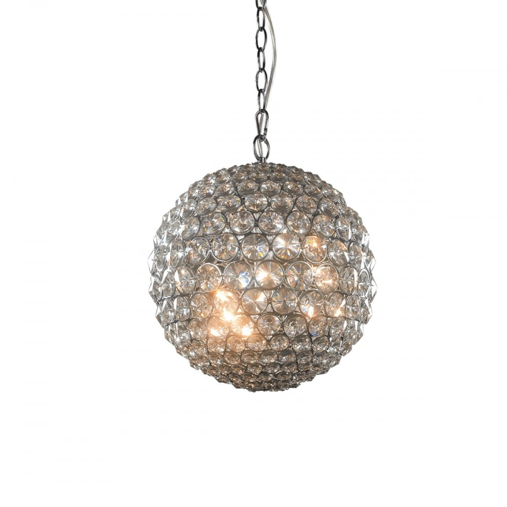 Milano Small Crystal Globe Pendant Light
