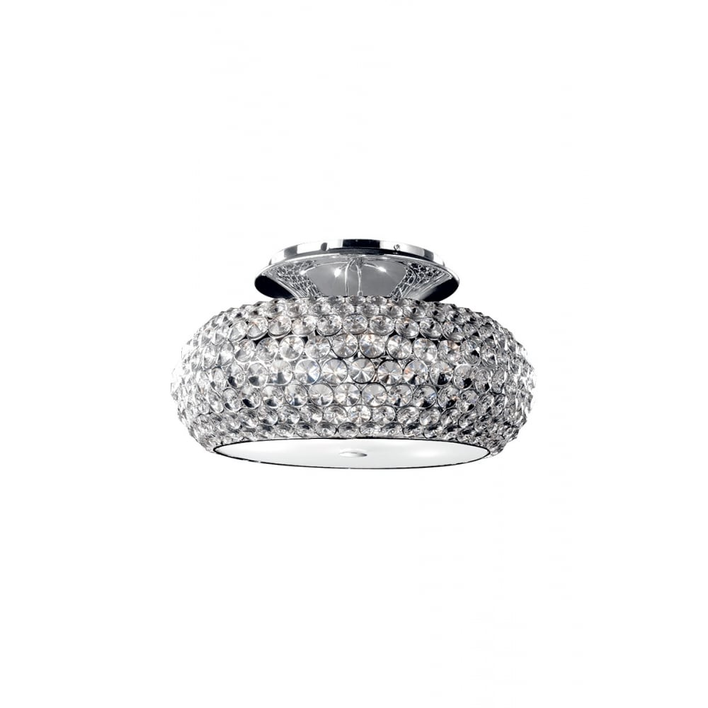 Star Crystal 6 Light Flush Ceiling Light In Polished Chrome Finish MX103203-6BCHR/CLR  sc 1 st  The Home Lighting Centre & Illuminati Lighting Star Crystal 6 Light Flush Ceiling Light In ...
