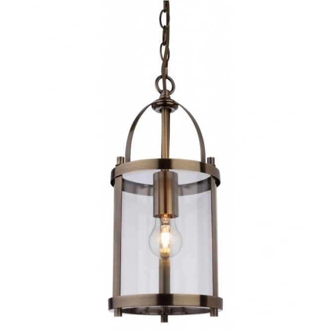 Firstlight Imperial Ceiling Pendant Lantern With Clear Glass Panels 8300