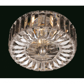 CE09117/02/CH Seville 2 Light Chrome & Crystal Flush Light