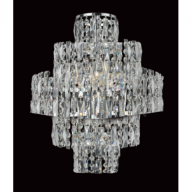 CF03220/WB/CH New York 3 Light Tiered Wall Light