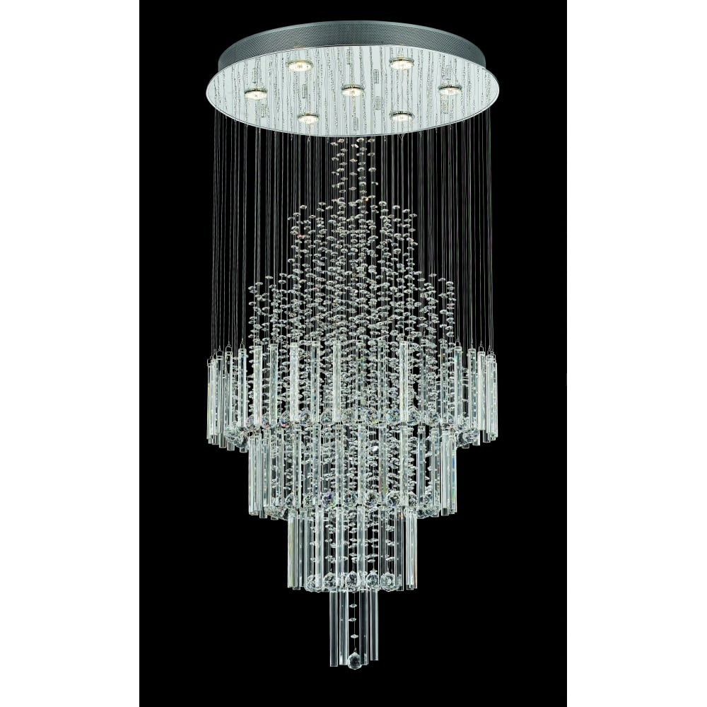 Impex lighting cf11028107ch barcelona 7 light crystal drop cf11028107ch barcelona 7 light crystal drop ceiling light mozeypictures Gallery
