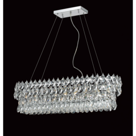 CF112022/09/CH Palermo 9 Light Crystal Ceiling Pendant
