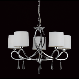CF112091/05/CH Vancouver 5 Light Chrome Ceiling Pendant