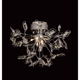 CFH112021/06/PL/CH Hamilton Semi Flush Chrome Ceiling Light