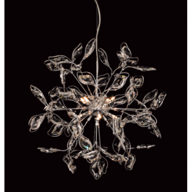 CFH112021/08/CH Hamilton 8 Light Chrome Ceiling Pendant