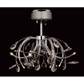 CFH201112/08/SF/CH Halifax Semi Flush Modern Gold Light