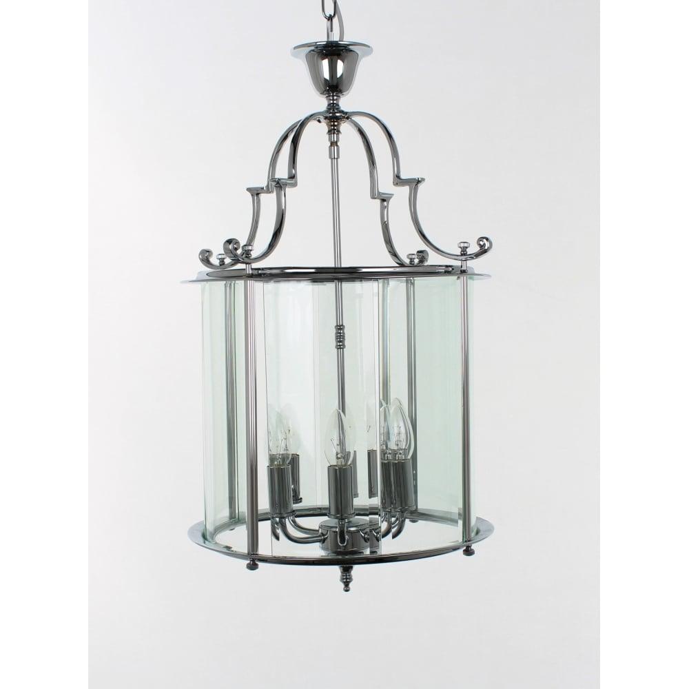 Impex Lighting Colchester 6 Light Traditional Brass Hanging Lantern ...