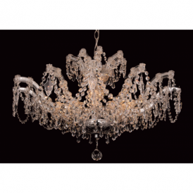 CP00160/06/SF/CH Marie Theresa Semi Flush Chrome Chandelier